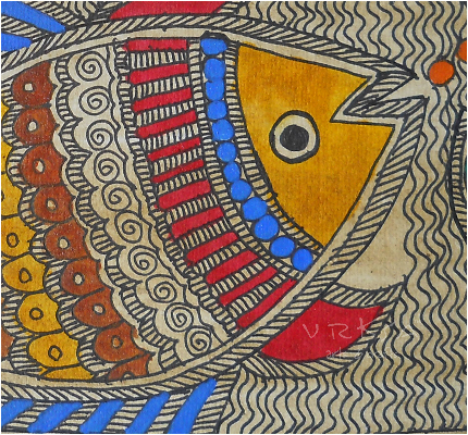 Traditional Indian Madhubani Art