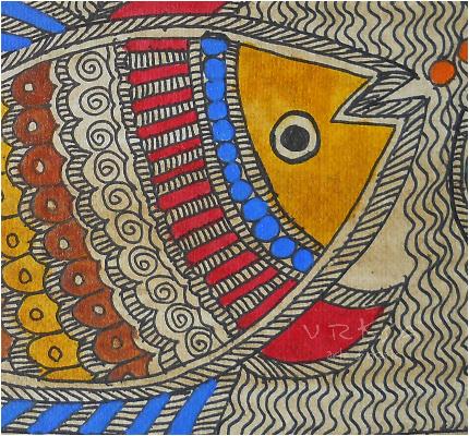Traditional Indian Madhubani Art