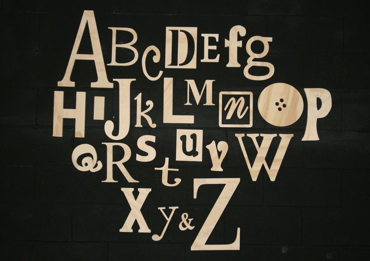Unfinished Wooden Alphabet Letters