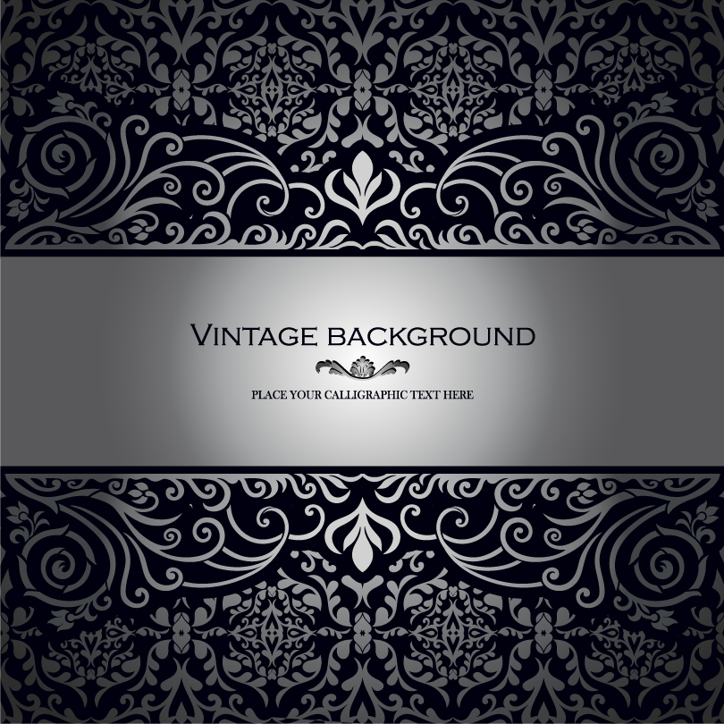 Vintage Black and Silver Vector Backgrounds Free