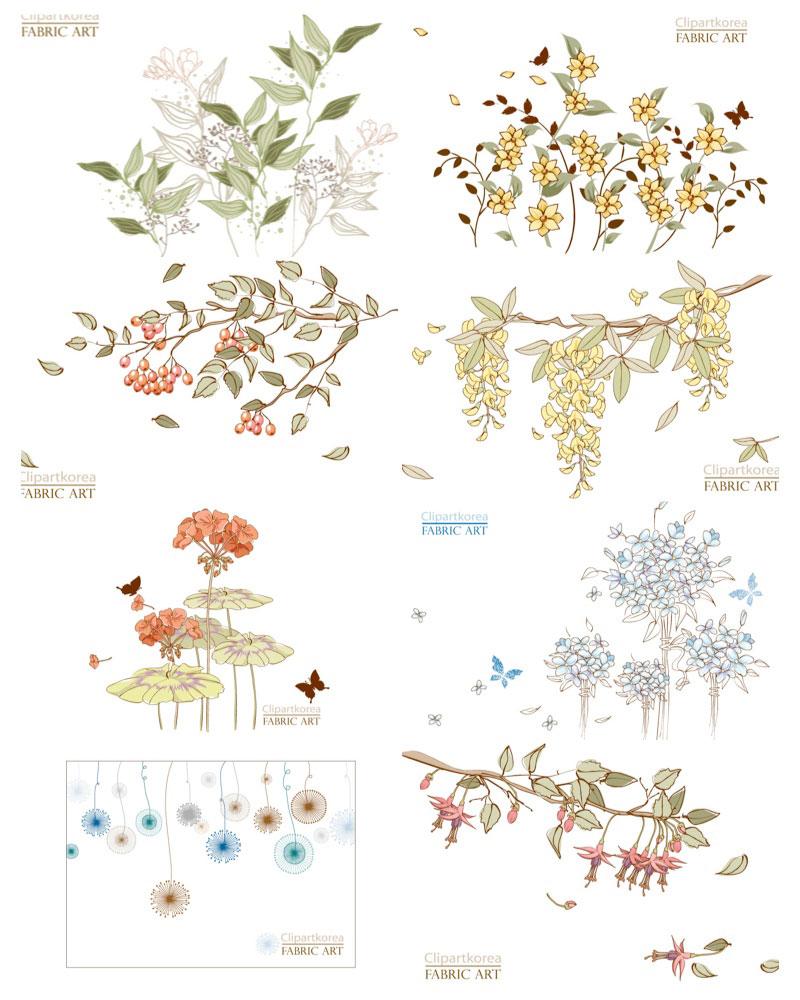 18 Vintage Floral Vector Clip Art Images