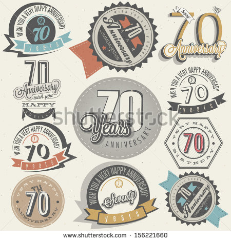 Vintage Happy Anniversary Clip Art