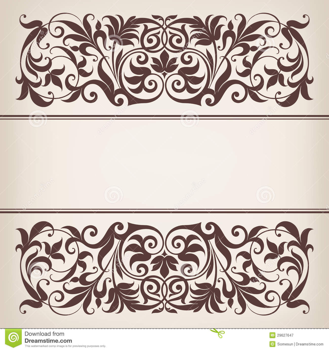 18 Vintage Vector Border Images Free Vector Calligraphic