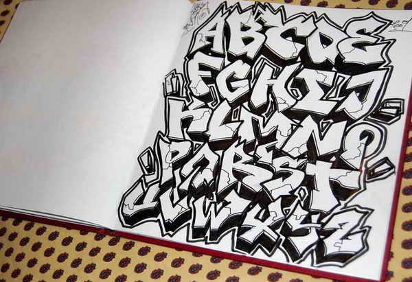 9 Wildstyle Graffiti Alphabet Fonts Images