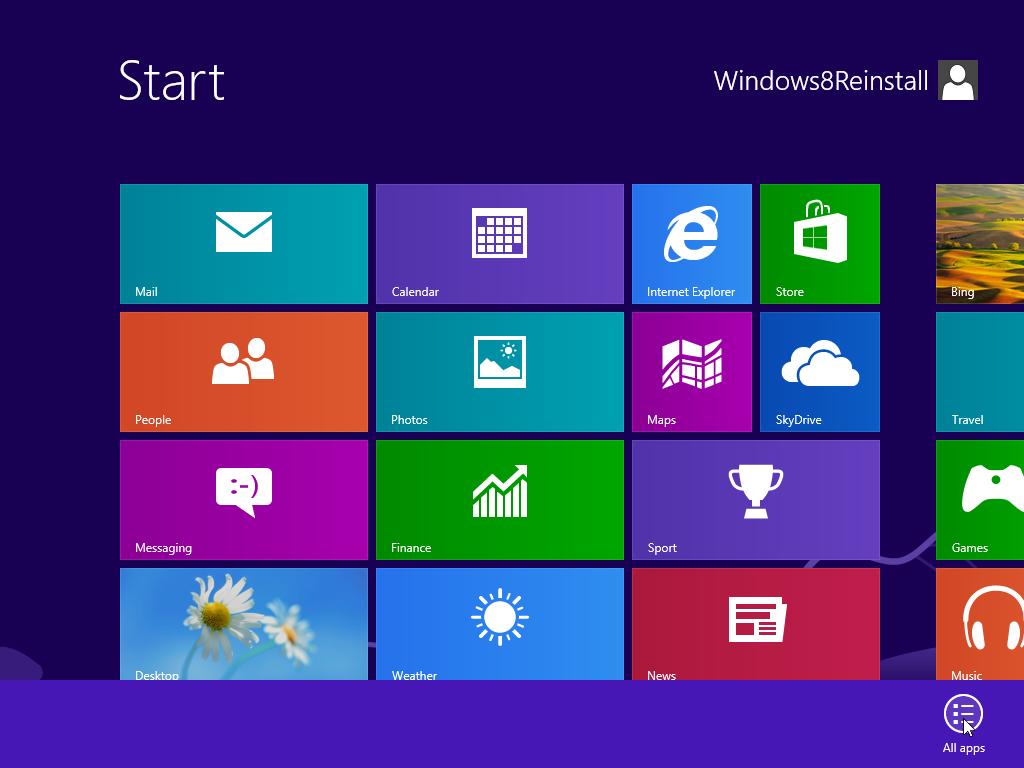 Windows 8 Start Desktop