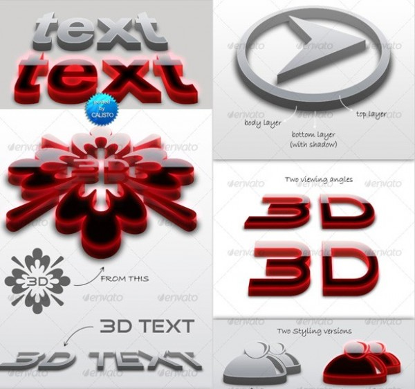 3D Fonts for Logos Free Downloads