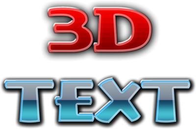 3D Text PSD