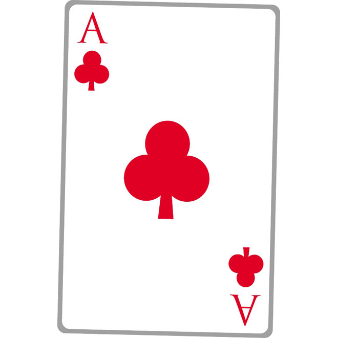 Ace Clubs Playing Card
