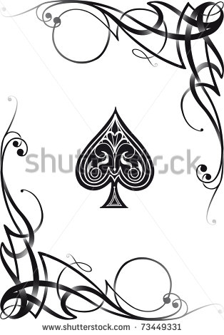Ace of Spades Playing Card Tattoo