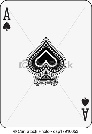 Ace of Spades Playing Card