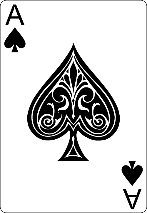Ace Playing Card Spade Vector