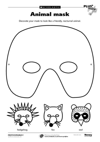 14 Animal Masks Templates Images Jungle Animal Mask