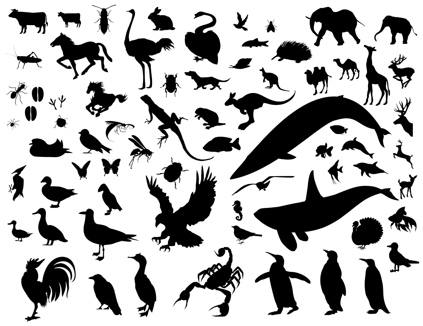 Animals Silhouette Shapes