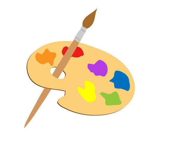 Artist Paint Palette Clip Art