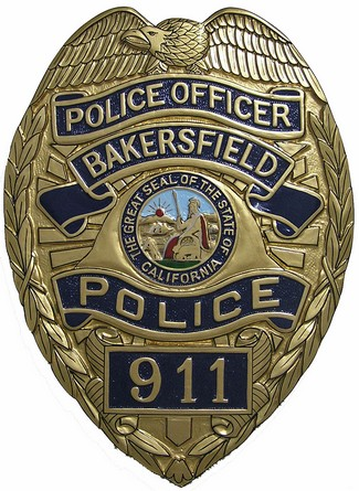 Bakersfield California Police Badge