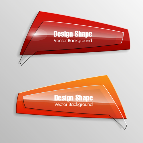 Banner Shape Vector Free Download