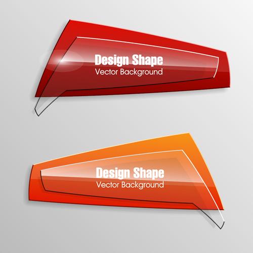 Banner Shape Vector Free Download