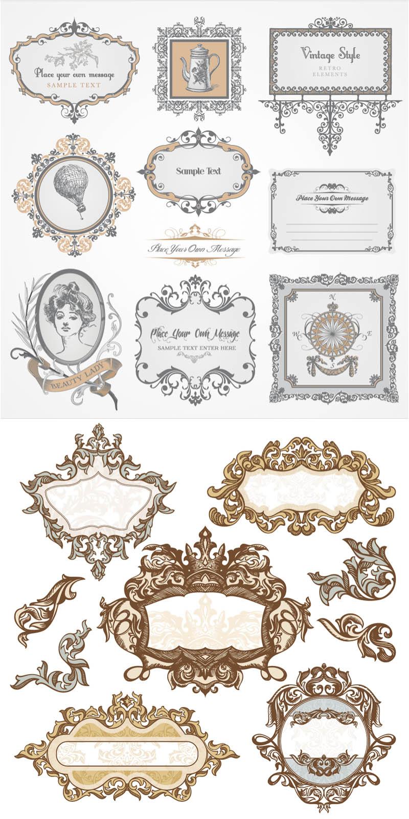 Baroque Vector Frames