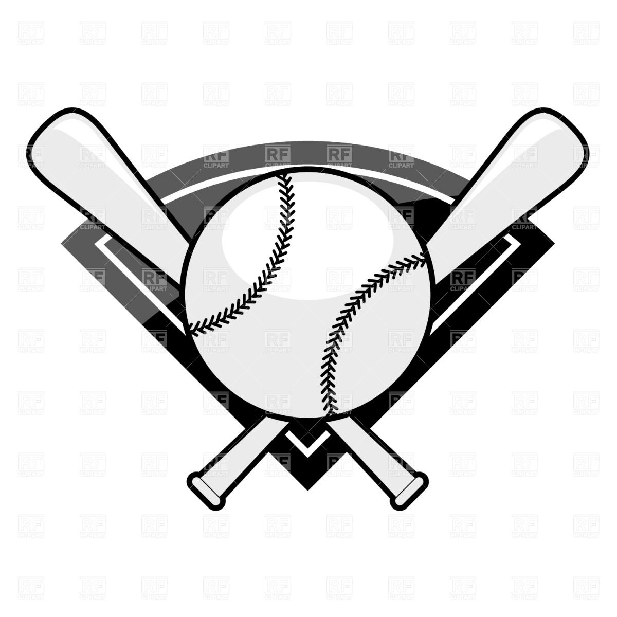 Baseball Bat and Ball Clip Art