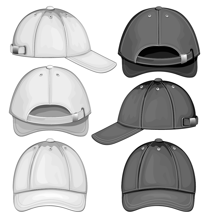 Baseball Cap Template Front and Back