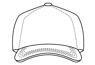Baseball Hat Design Template