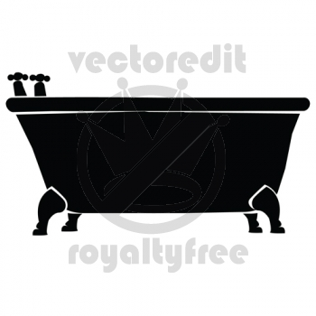 Bathtub Silhouette