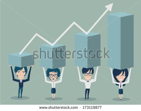 Business People Stock Graph