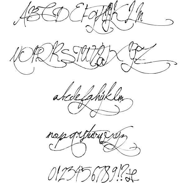 8 Vintage Handwriting Font Images