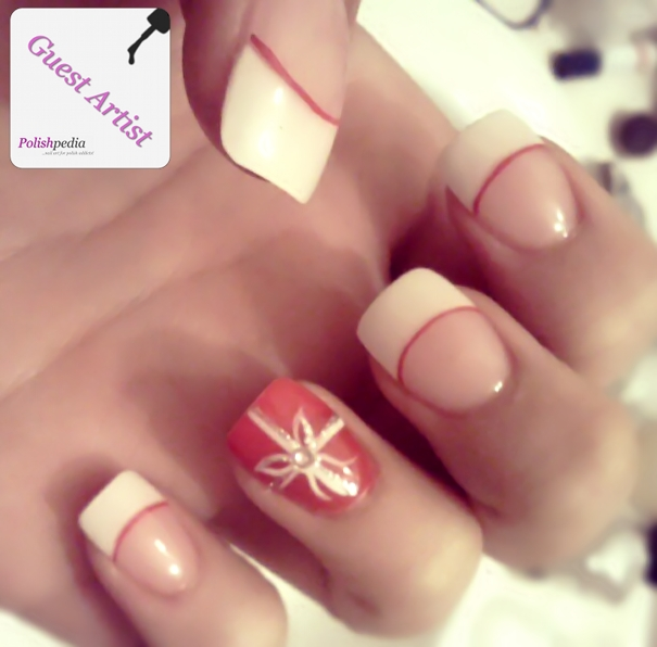 15 Christmas French Tip Nail Art Design Images