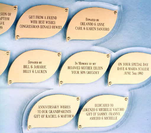Church Tree of Life Donor Plaques