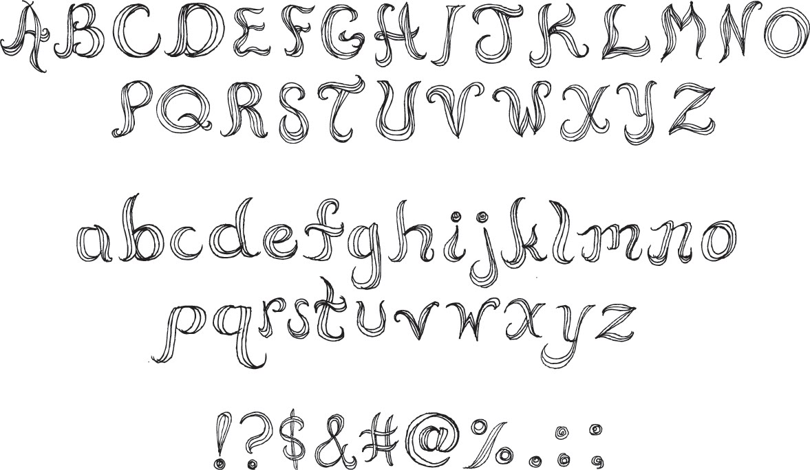 Cool Easy to Draw Fonts by Hand