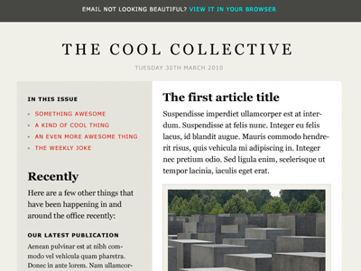 Cool Newsletter Layouts