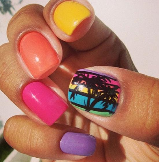 15 Summer Nail Designs 2014 Images