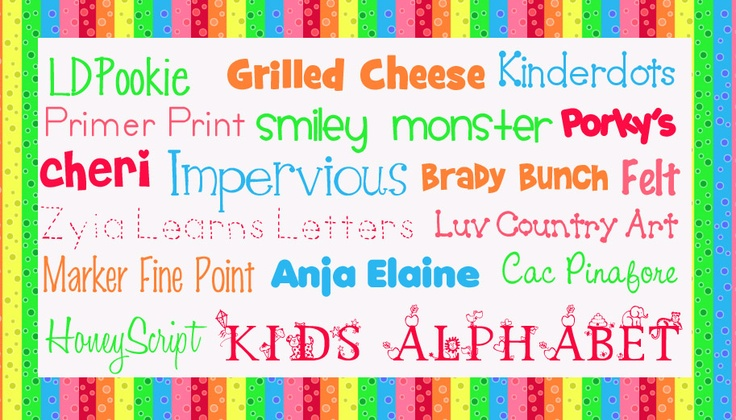 Cute Kindergarten Fonts