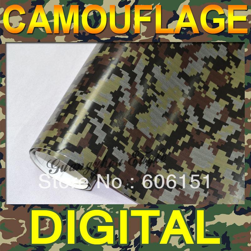 Digital Camo Vinyl Wrap Car