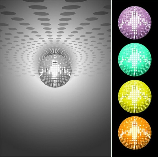 13 Disco Lights PSD Images