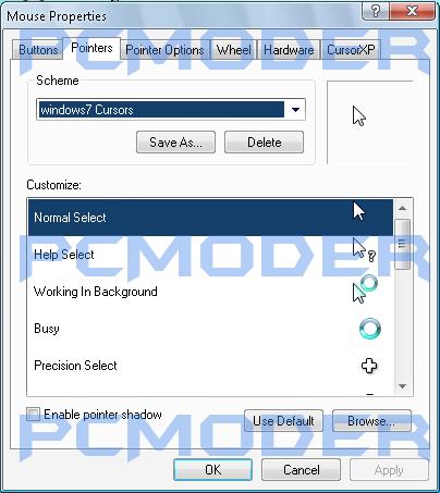 12 Standard Windows 7 Cursor Icon Images - Windows Hand Cursor Icon