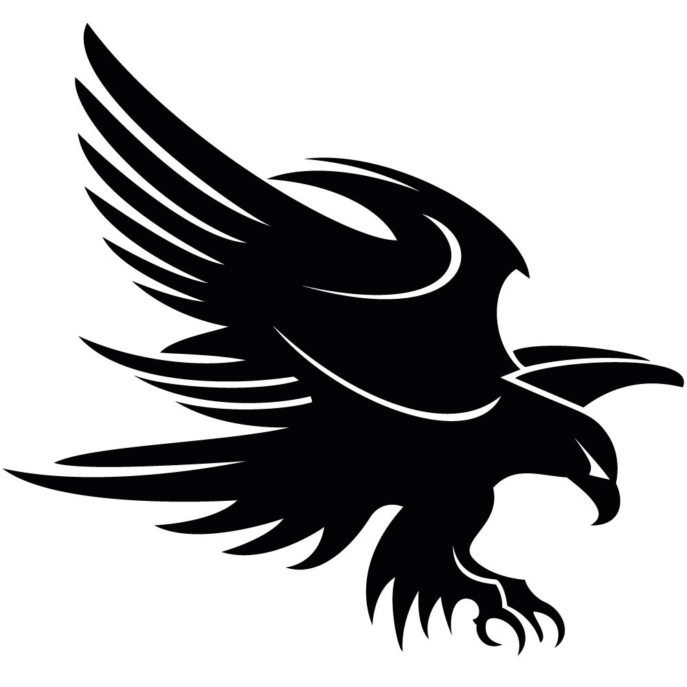 Eagle Clip Art Black and White