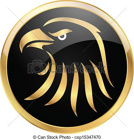 Eagles Logo Clip Art Black and Gold