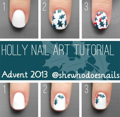 18 christmas nail art designs for beginners images christmas easy christmas nail designs step by step prinsesfo Choice Image