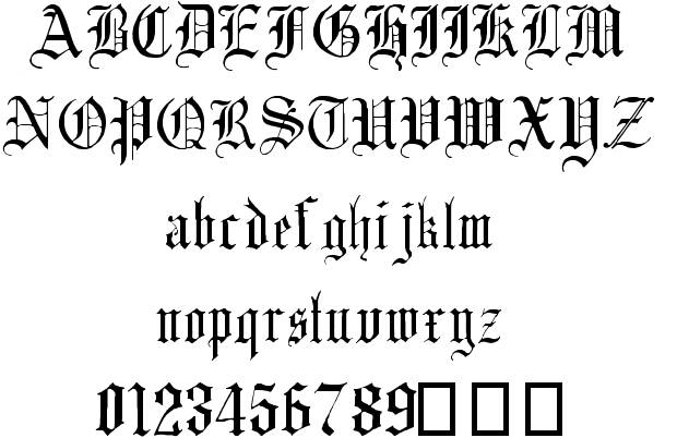 16 Gothic Text Font Images