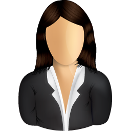 Female Business User Icon