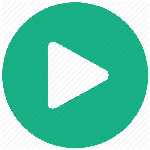 Flat Play Button Icon