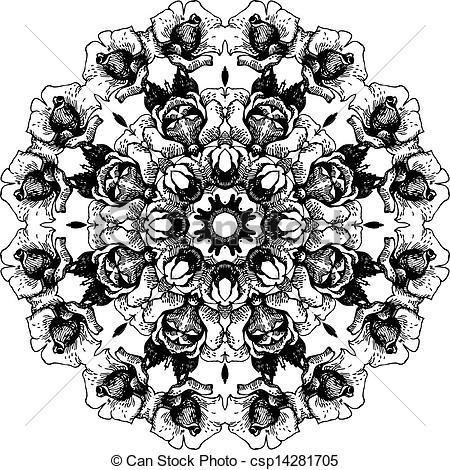 Floral Lace Pattern Clip Art