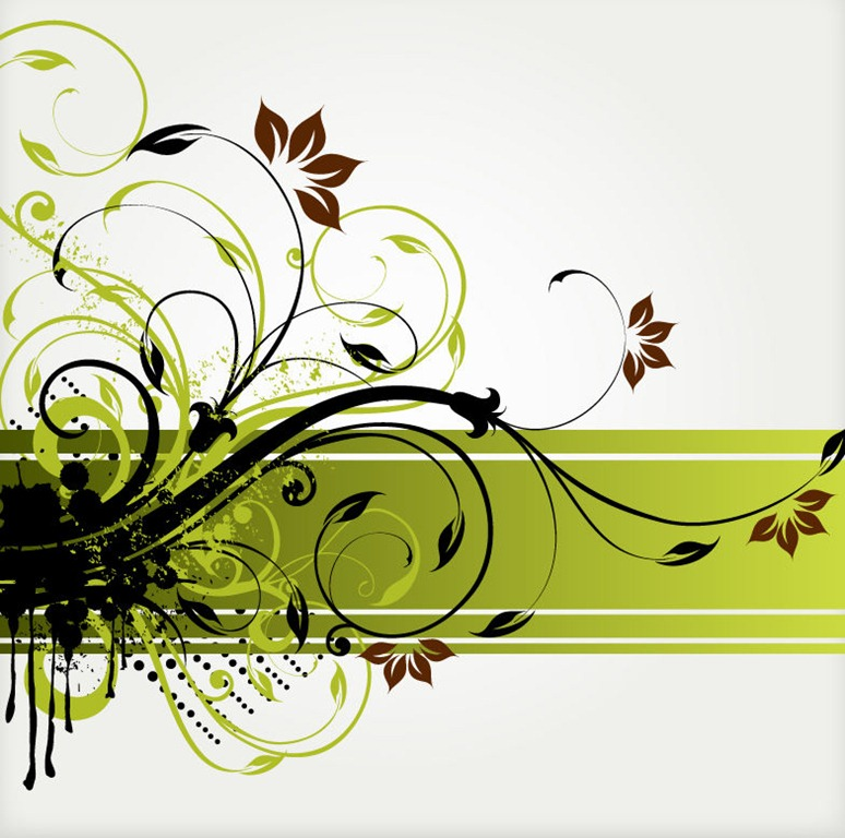 13 Floral Swirl Vector Background Images