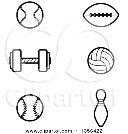 Football Clip Art Black and White