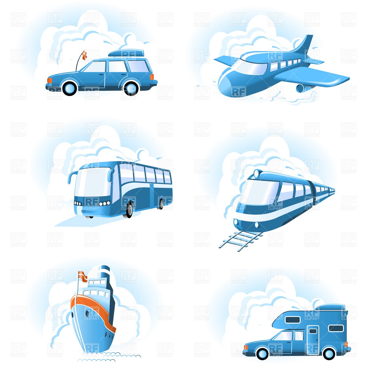 15 Mode Transportation Icons Free Graphic Images
