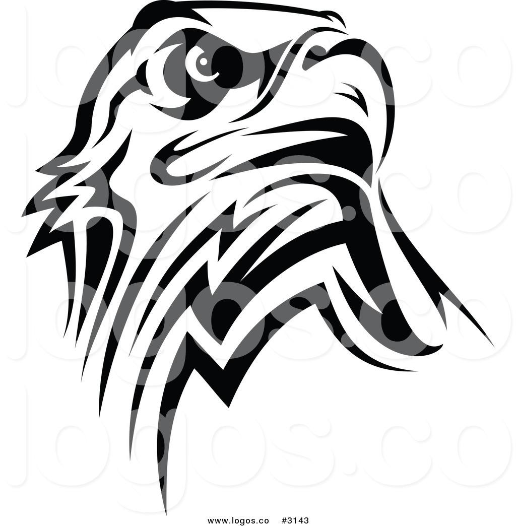 eagle head logo design black and white. Black Bedroom Furniture Sets. Home Design Ideas