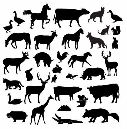 Free Farm Animal Silhouettes