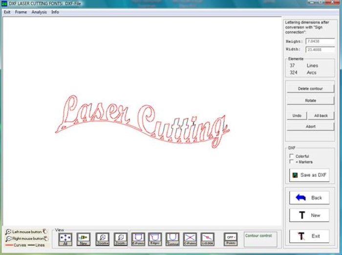 16 Font For Download Free DXF Laser Images - Laser Cutting